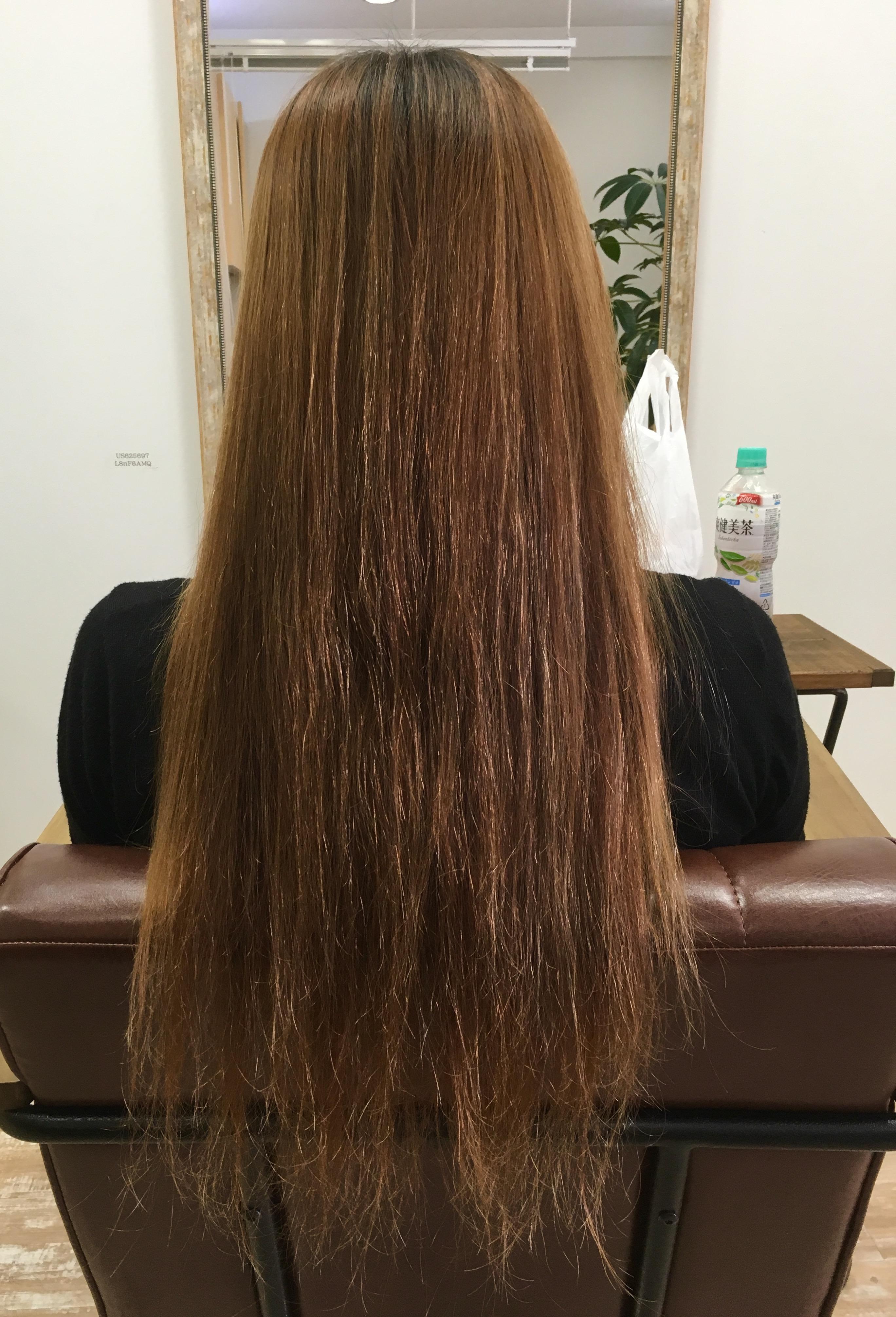 カラーによる毛髪修繕!