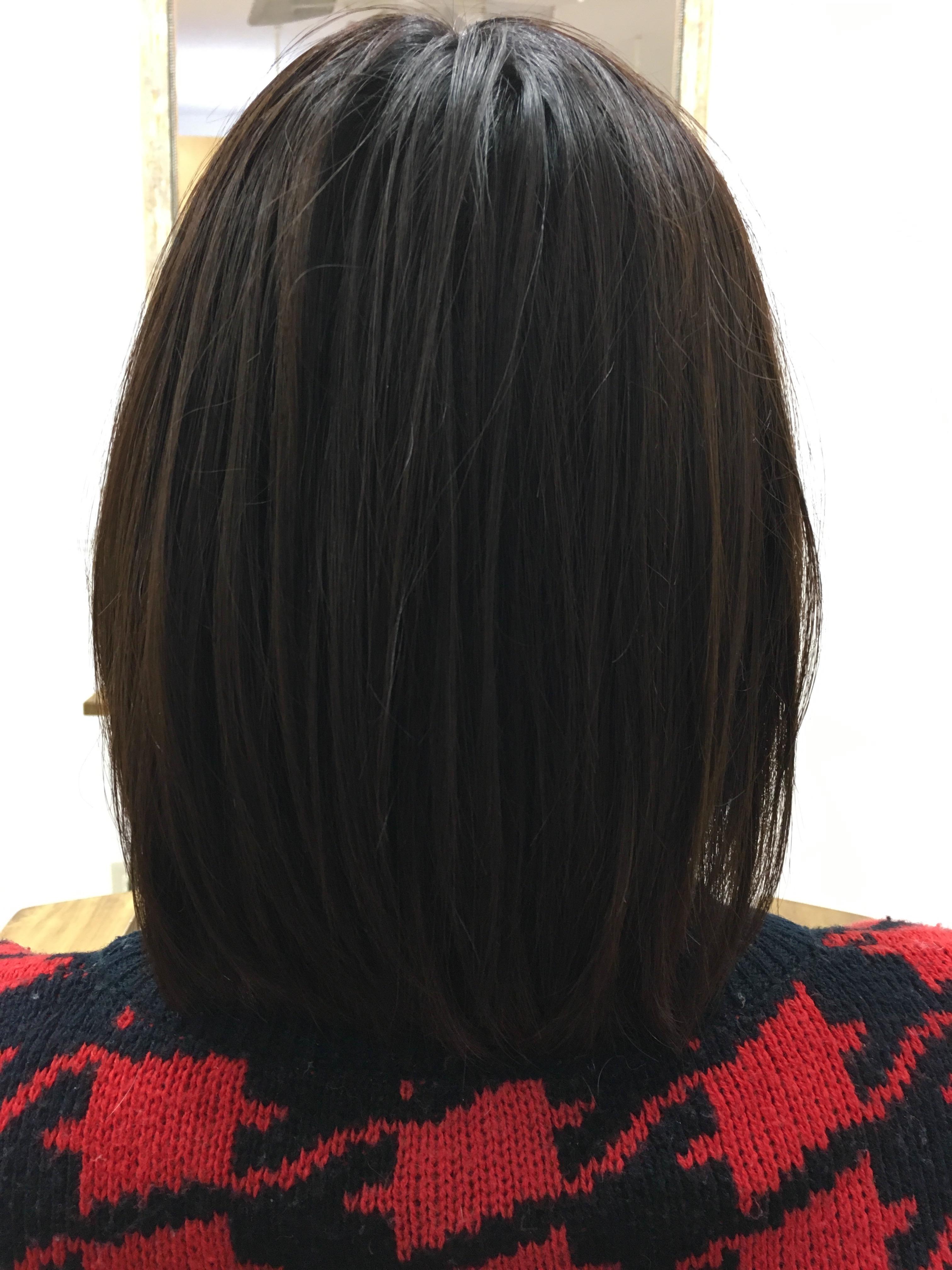 毛髪強化カラー。