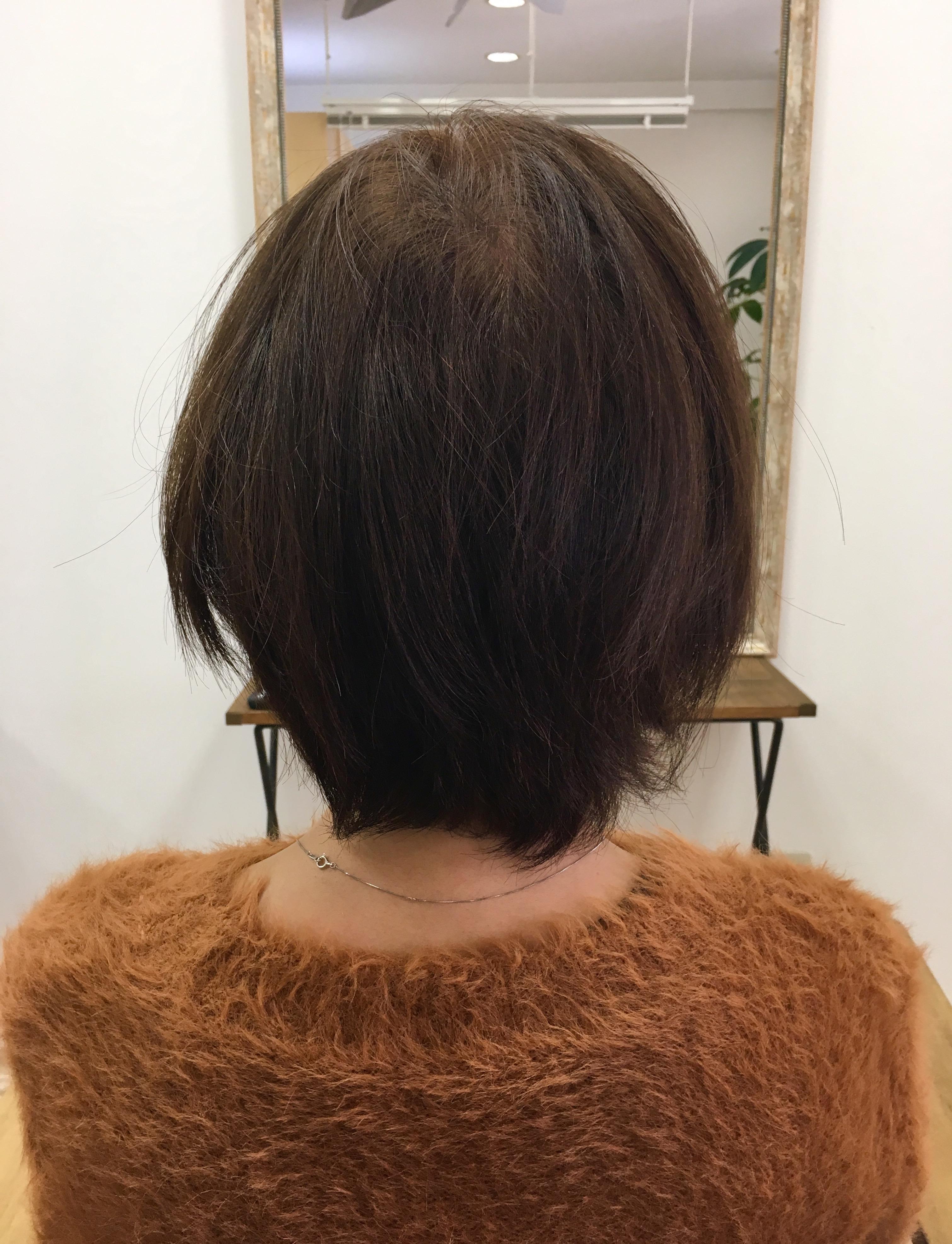髪を太くするカラー。
